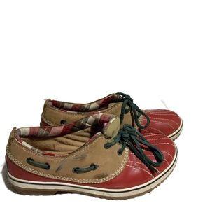 Sorel Women's Size 8.5 Low Top Duck Boots Lace Up